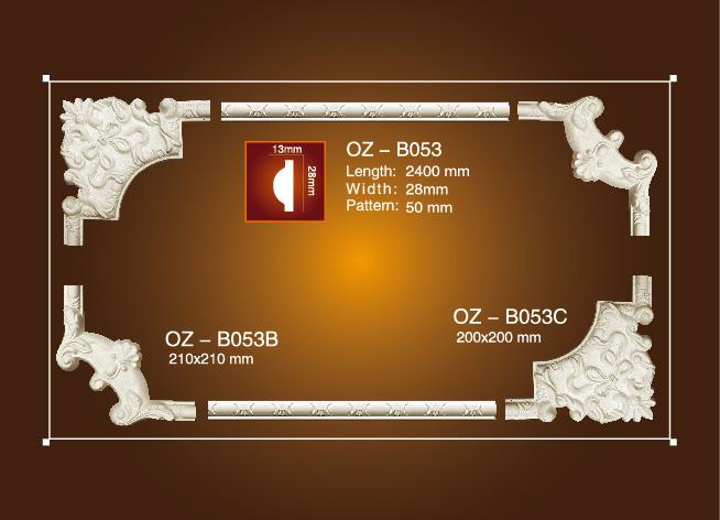 Factory directly House Pillars Designs - Corner Flower OZ-B053 – Ouzhi