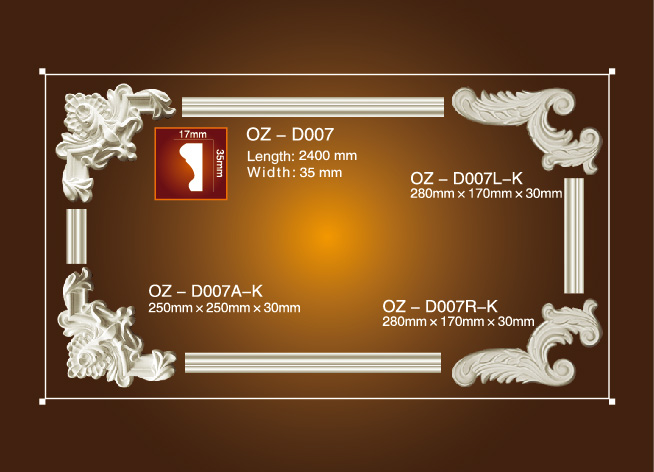 Factory best selling Types Of Ceiling Board Material - Corner Flower OZ-D007 – Ouzhi