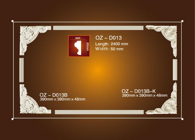 Bottom price Chepaest Interior Mouldings - Corner Flower OZ-D013 – Ouzhi