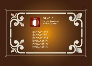 Newly Arrival Gfrc Eps Shape Moulding Polystyrene Moulding - Corner Flower OZ-D101 – Ouzhi