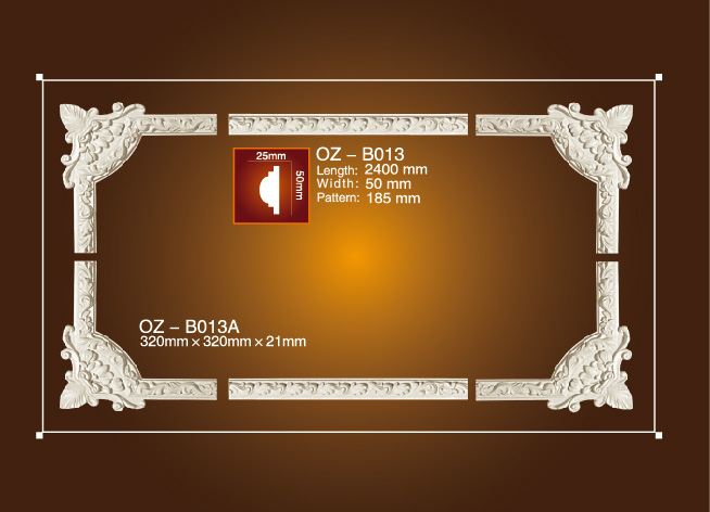 Factory Price For European Lifestyle Plaster Light Trough - Corner Flower OZ-B013 – Ouzhi
