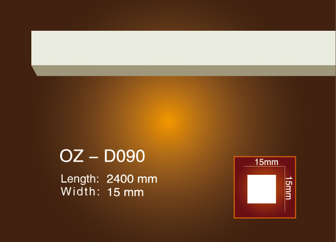 Discountable price Mouldings Cornice From China - Side Flat Wire OZ-D090 – Ouzhi