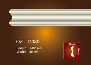 Factory source Flexible Skirting Board -<br />  Side Flat Wire OZ-D080 - Ouzhi