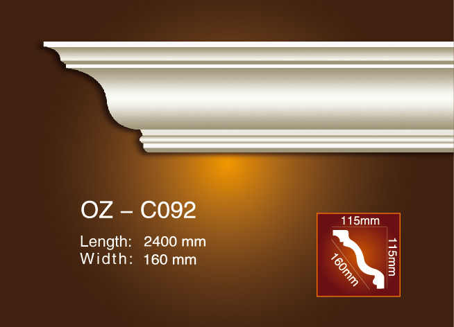 Factory directly Carved Marble Moulding - Plain Angle Line OZ-C092 – Ouzhi