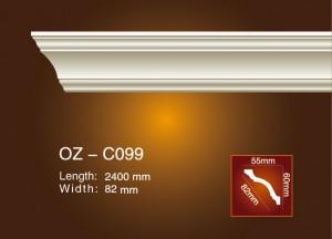 OEM Supply Interior Decorative Polyurethane Ceiling Medallion - Plain Angle Line OZ-C099 – Ouzhi