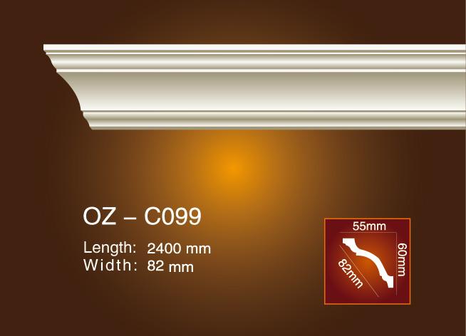 2017 New Style Decorative Gypsum Cornice Moulding - Plain Angle Line OZ-C099 – Ouzhi