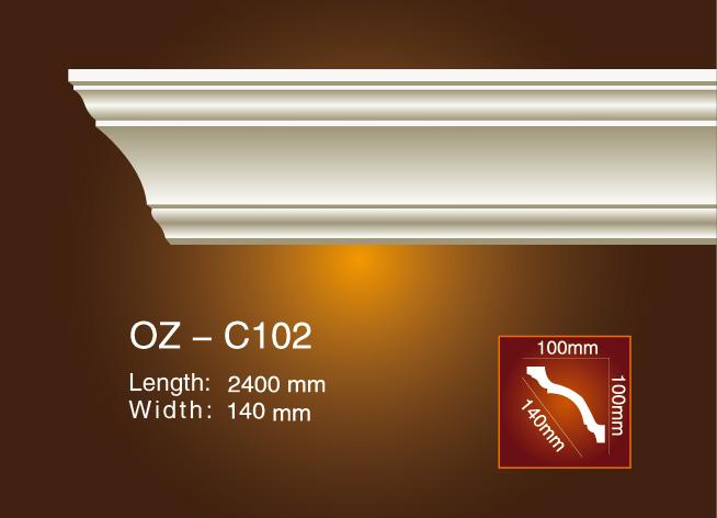 Chinese wholesale Pu Decorative Skirting Moulding - Plain Angle Line OZ-102 – Ouzhi