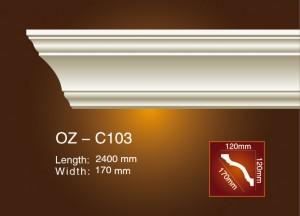 Factory wholesale Polyurethane Wall Panel Moulding - Plain Angle Line OZ-C103 – Ouzhi
