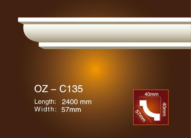 China Manufacturer for House Decorative Components Pu Material Ceiling Medallion - Plain Angle Line OZ-C135 – Ouzhi