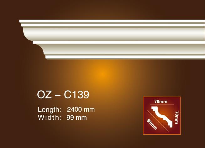 Renewable Design for Interior Decorative Pu Mouldings - Plain Angle Line OZ-C139 – Ouzhi