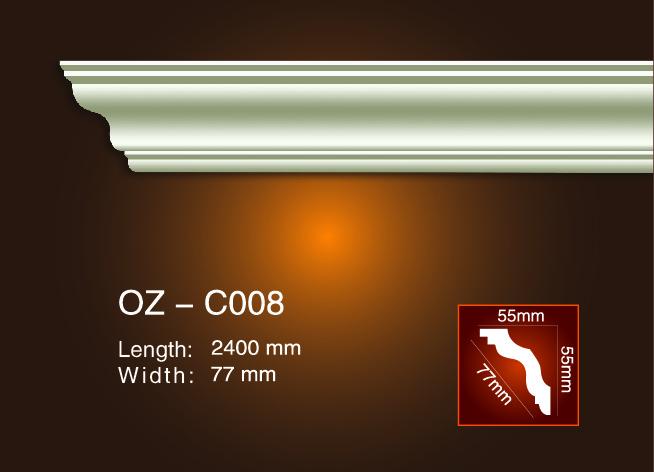 Factory For Gypsum Plaster Cornice Corners - Plain Angle Line OZ-C008 – Ouzhi