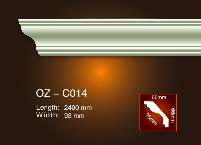 Fixed Competitive Price Ps Wall Corner Guard Protector Moulding - Plain Angle Line OZ-C014 – Ouzhi