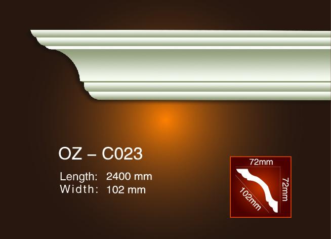 Original Factory Interior Decorative Eps Ceiling Cornice Mould - Plain Angle Line OZ-C023 – Ouzhi