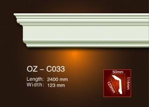 2017 New Style Top Sale Pu Cornice Corner Ceiling Moulding - Plain Angle Line OZ-C033 – Ouzhi