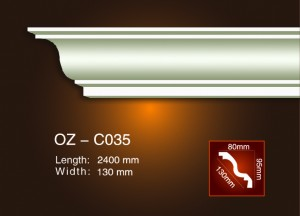 100% Original Factory Wall Ceiling Medallions - Plain Angle Line OZ-C035 – Ouzhi