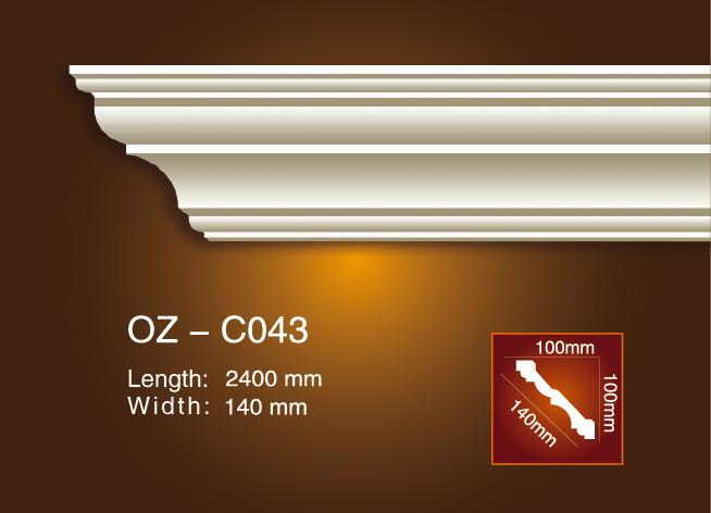 Wholesale Price Chair Rails And Panel Mouldings - Plain Angle Line OZ-C043 – Ouzhi