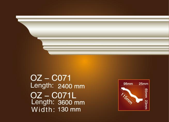 Factory Cheap Square Ceiling Medallions - Plain Angle Line OZ-C071 – Ouzhi
