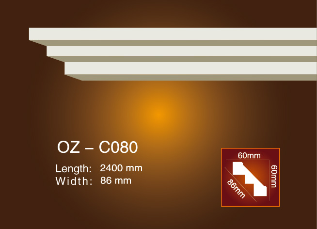 Special Design for Professional Design Polyurethane Round Ceiling Medallions - Plain Angle Line OZ-C080 – Ouzhi
