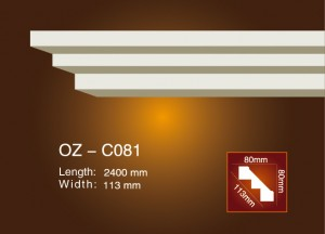China Gold Supplier for Gypsum Carving Cornice Moulding - Plain Angle Line OZ-C081 – Ouzhi