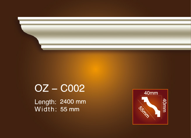 Factory directly supply Plastic Crown Moulding - Plain Angle Line OZ-C002 – Ouzhi Featured Image