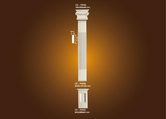 Excellent quality Cornice Ceiling Crown Moulding - PU Roman Column OZ-P002A-C – Ouzhi