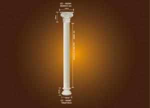 Manufacturer of Decorative Components Pu Material Ceiling Medallion - PU Roman Column OZ-N005A – Ouzhi