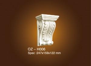 Factory selling Moulding Polyurethane - Exotic Corbels OZ-H006 – Ouzhi