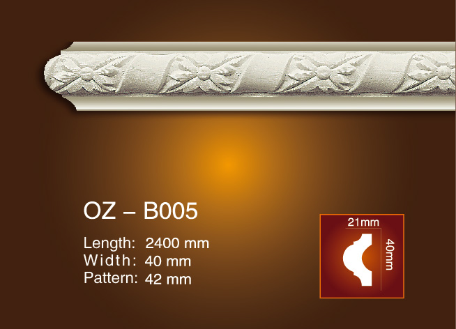 Cheapest Factory Pu Decorative Indoor Fire Place - Carved Flat Line OZ-B005 – Ouzhi