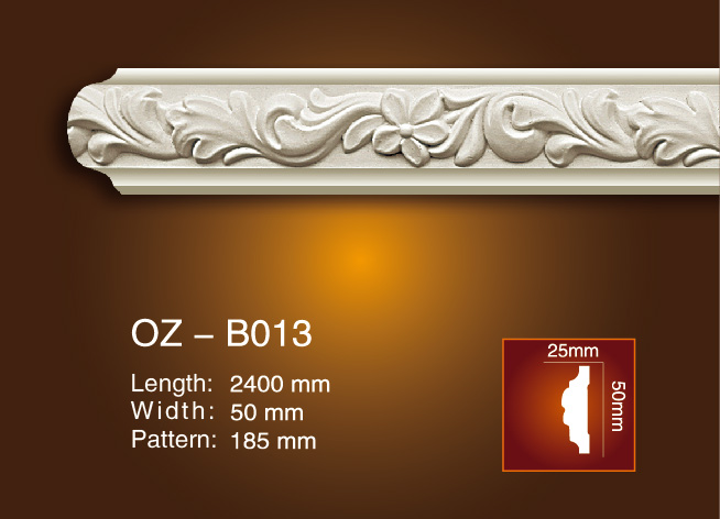 Discount wholesale Cornice And Moulding Used For Wall - Carved Flat Line OZ-B013 – Ouzhi