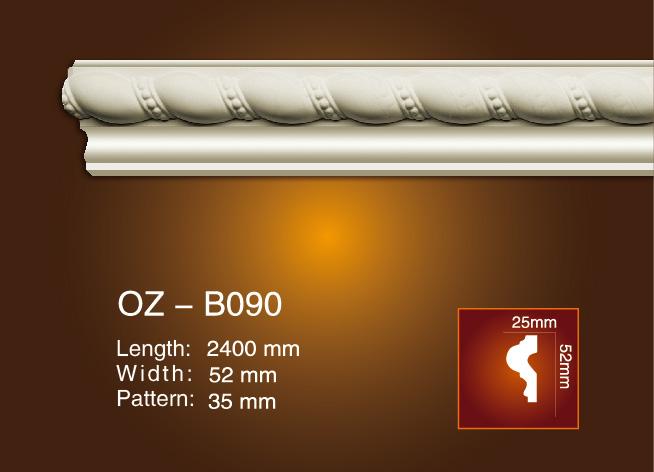 Short Lead Time for Decorative Pu Carving Crown Moulding - Carved Flat Line OZ-B090 – Ouzhi