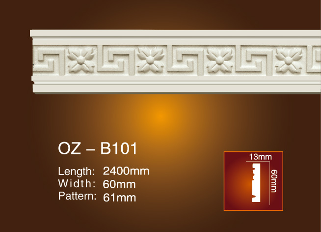 New Delivery for Architectural Foam Moulding Hzs011 - Carved Flat Line OZ-B101 – Ouzhi