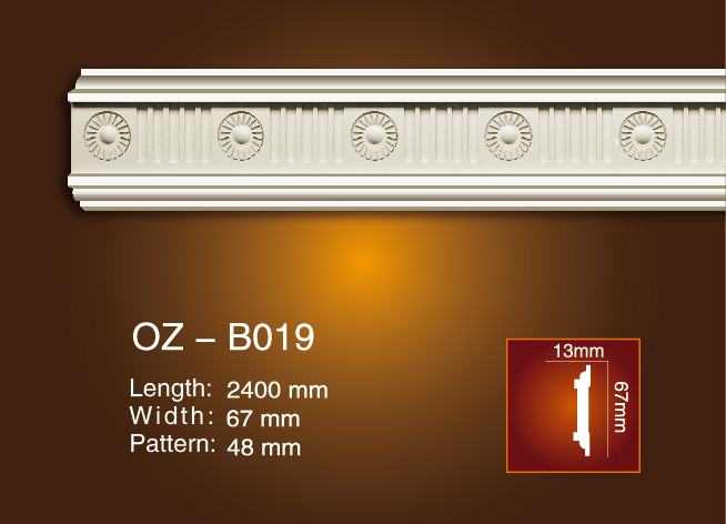 China Supplier Classical White Marble Fireplace Mental - Carved Flat Line OZ-B019 – Ouzhi