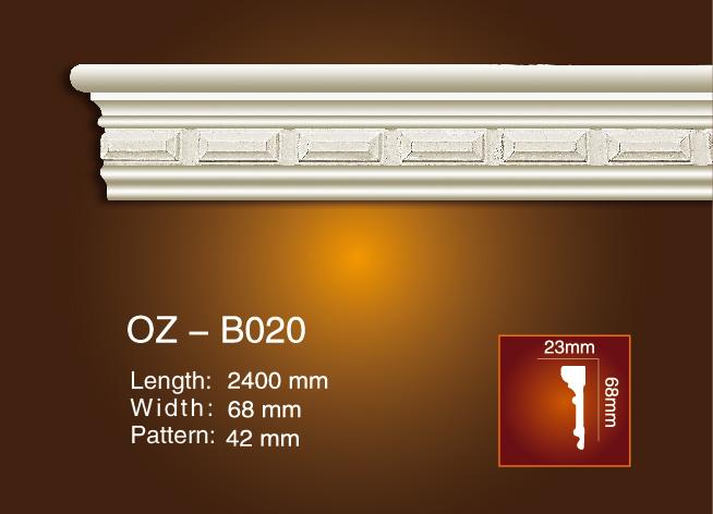 Special Design for Pu Carving Trim Mouldings - Carved Flat Line OZ-B020 – Ouzhi