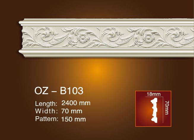 Wholesale Price Chair Rails And Panel Mouldings - Carved Flat Line OZ-B103 – Ouzhi Featured Image