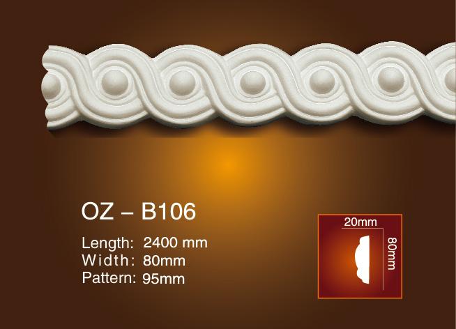 Manufacturer of Polyurethane Skirting Moulding - Carved Flat Line OZ-B106 – Ouzhi