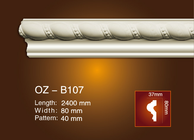 100% Original Factory Decorative Exterior Shutters - Carved Flat Line OZ-B107 – Ouzhi