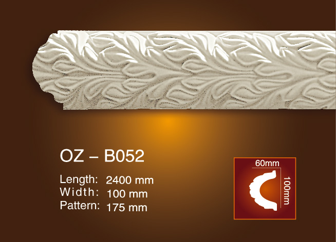 Cheapest Factory Modern Polyurethane Cornices - Carved Flat Line OZ-B052 – Ouzhi