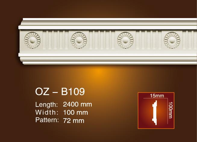 factory customized Decorative Hollow Pillar Moulding - Carved Flat Line OZ-B109 – Ouzhi