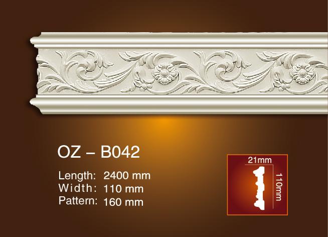 Good Quality Cornice Moulding Line - Carved Flat Line OZ-B042 – Ouzhi