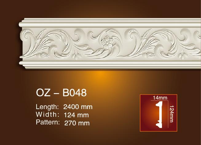 Excellent quality Decorative Ps Frame Moulding - Carved Flat Line OZ-B048 – Ouzhi