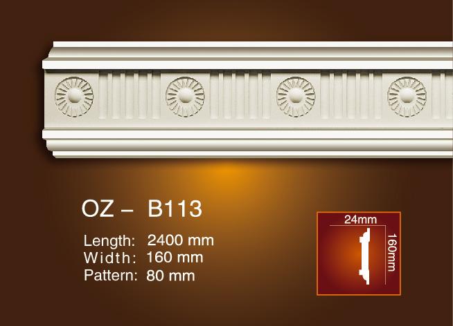 factory Outlets for Pop Design Gypsum Cornice Moulding - Carved Flat Line OZ-B113 – Ouzhi