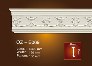 Special Price for Top-grade Pu Carved Crown Moulding -