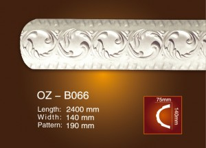 China Factory for Pu Decorative Square Ceiling Medallions - Carved Flat Line OZ-B066 – Ouzhi