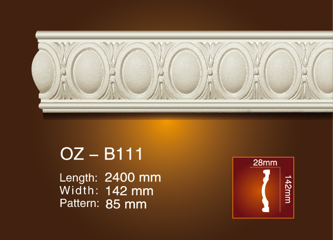 High reputation Fiberglass Crown Moulding - Carved Flat Line OZ-B111 – Ouzhi