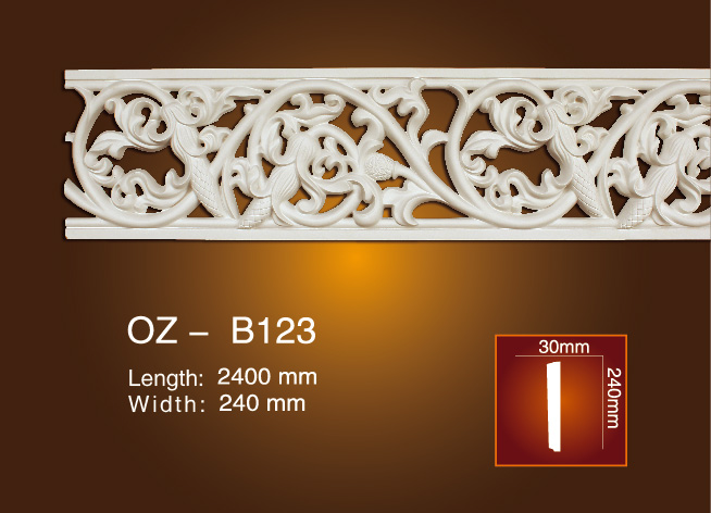 Competitive Price for Pu Outdoor Skirting Board - Carved Flat Line OZ-B123 – Ouzhi