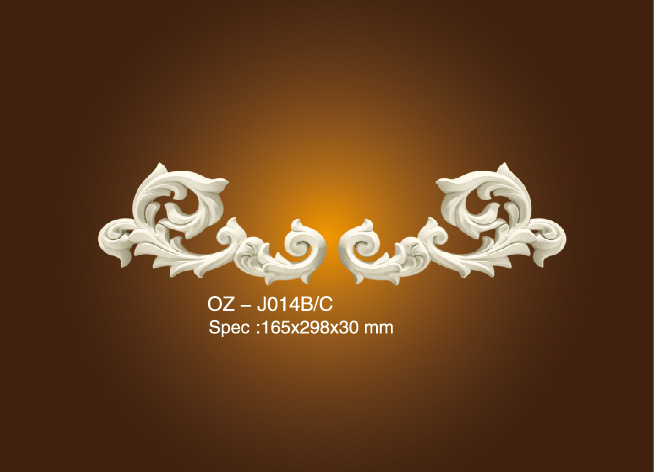 PriceList for Ecorative Gypsum Cornice Mould - Decorative Flower OZ-J014B/C – Ouzhi