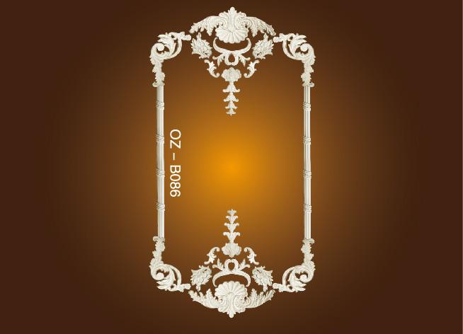 Discountable price Polyurethane Cornice Moulding Frames Ceilings - Decorative Flower OZ-B086 – Ouzhi