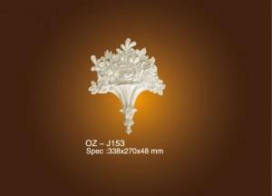 2017 New Style Pu Cornice Mouldings For Interior Decor - Decorative Flower OZ-J153 – Ouzhi