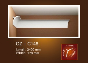Factory supplied Home Interior Decoration Pu Cornice -