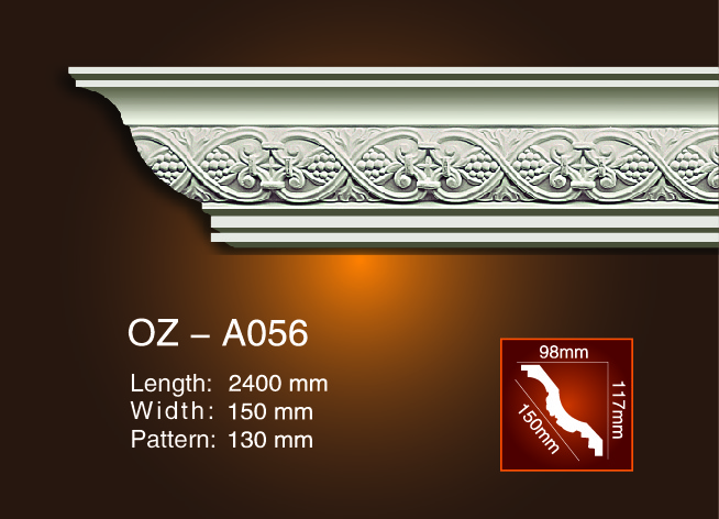 Factory wholesale Curtain Box Moulding - Carving Cornice Moulding OZ-A056 – Ouzhi